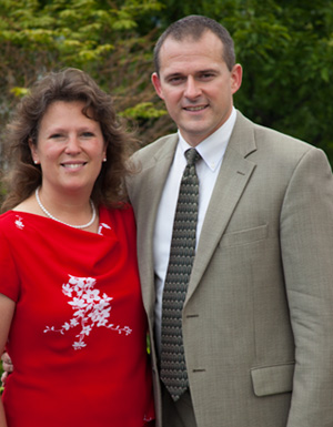 Pastor Mark Brooks and his wife, Melissa