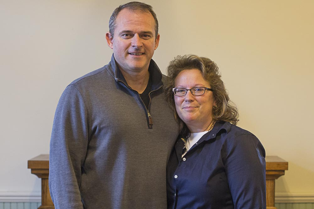 pastor mark brooks with his wife, Melissa